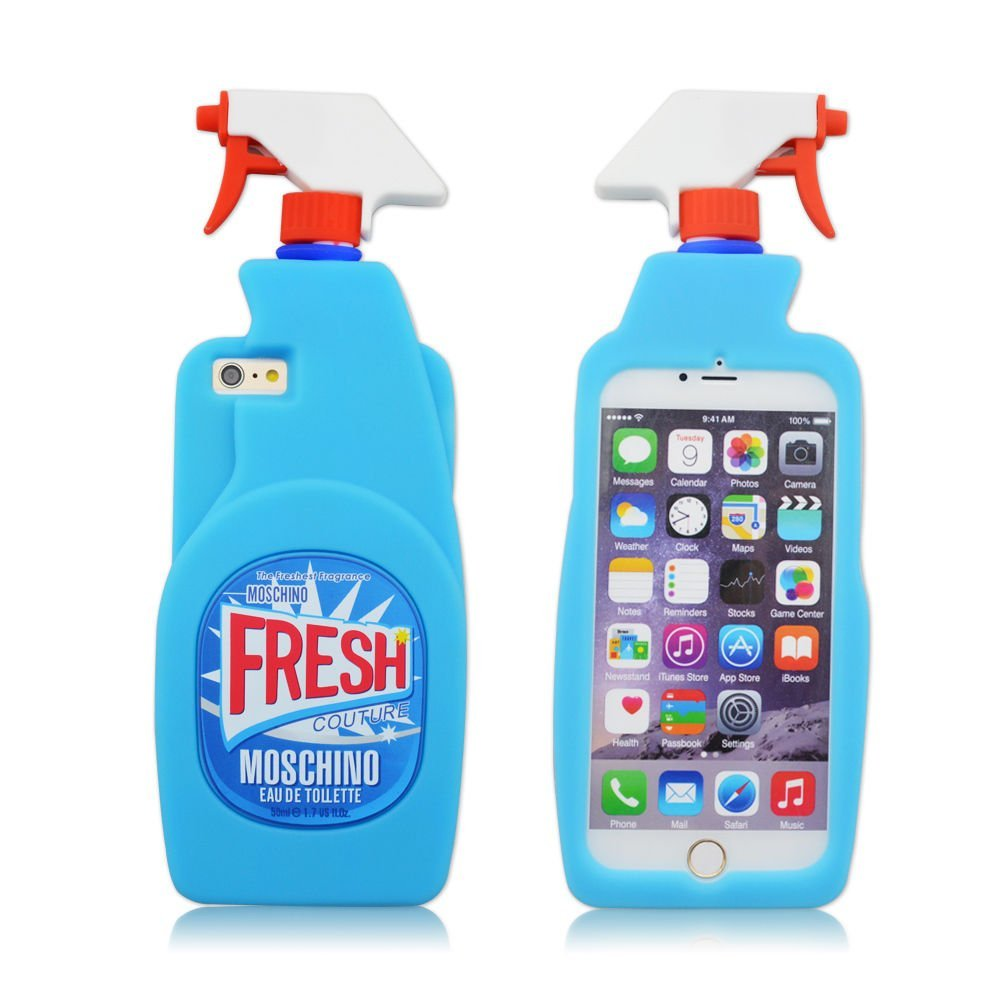 nuovo di zecca d665a 96b39 Amazon.com: Fashion Silicone 3D Fruit Cover for Iphone 6 6s,3D Cool  Shark,3D Sexy Lips Soft Gel Rubber Case for Apple Iphone 6 6S 4.7inches  (Moschino ...