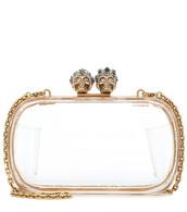 skull,embellished,clutch,gold,bag