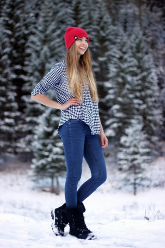 koko luxe blogger jacket gingham casual hiking boots