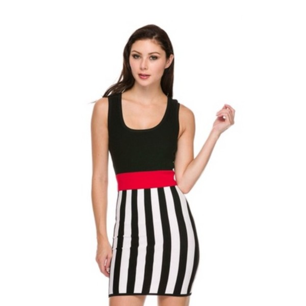 dress striped dress colorblock bodycon dress bodycon little black dress stripes