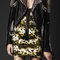 Burberry - short studded leather biker jacket