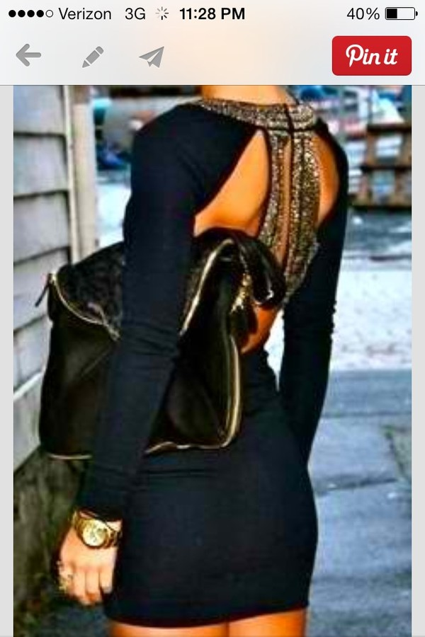 dress black and gold bandage