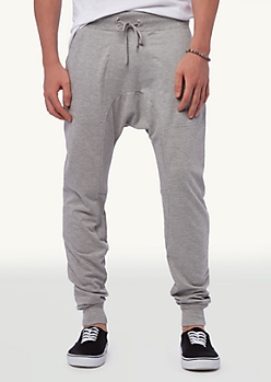 Heathered Grey Zip Pocket Terry Jogger Sweats | Bottoms | rue21