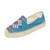 Soludos Yucatan Platform Smoking Slippers - Ocean Blue