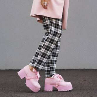 shoes zooji zooshoo platform shoes creepers pink shoes cute shoes y-r-u y-r-u shoes yru shoes style edgy fashion fashionista blogger streetstyle yru