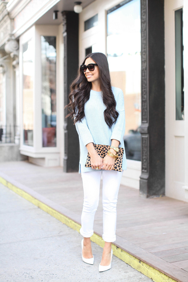 with love from kat sweater jeans shoes bag jewels sunglasses