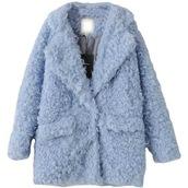 coat,stuffed animal,fluffy,blue