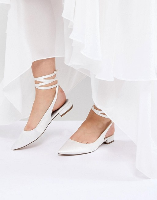 ASOS DESIGN Lovingly Bridal Ballet Flats at asos.com
