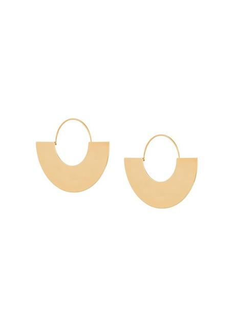 Ca & Lou women earrings hoop earrings grey metallic jewels