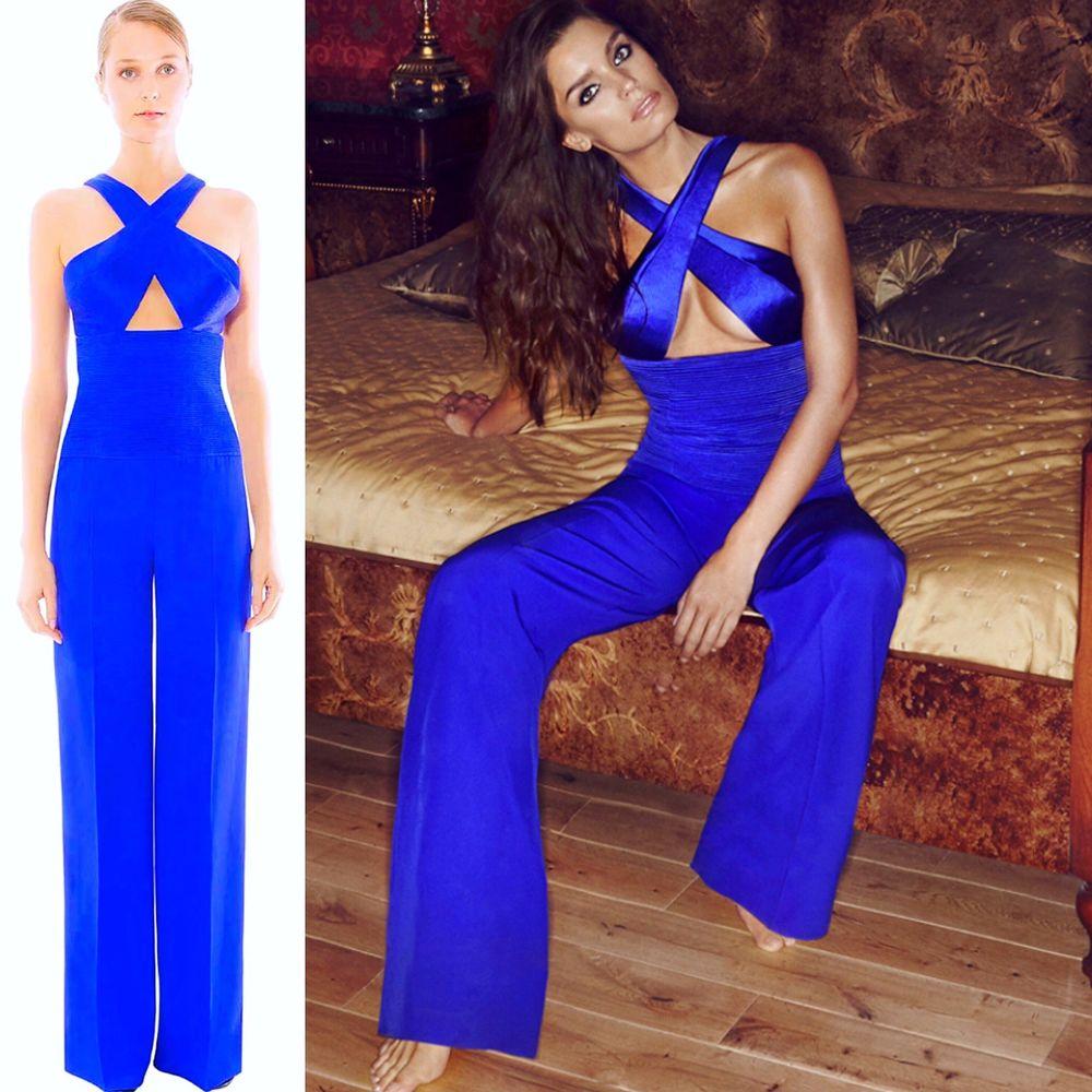 Gomez Gracia Jumpsuit NWT Silk Palazzo Evening NWT POMPIDOU Size 10 UK