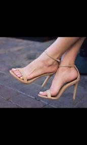 shoes,beige,heels,high heel sandals,sandals,nude,nude heels,open toes,minimalist