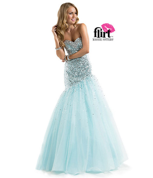 dress, flirt, heart, beautiful, puffy, full, length, prom, prom ...