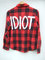 Red plaid idiot michael clifford 5sos inspired flannel shirt