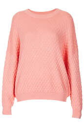 sweater,pink,quilted,jumper,topshop