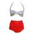 Retro Pinup Rockabilly Vintage High Waist Bikini Swimsuit Swimwear s M L | eBay
