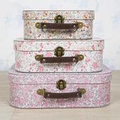 home accessory,storage,suitcase,floral,flowers,print,gorgeous,pretty,home decor,vintage decor