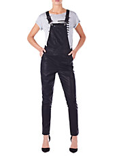 Faux Leather Overalls | Lord and Taylor