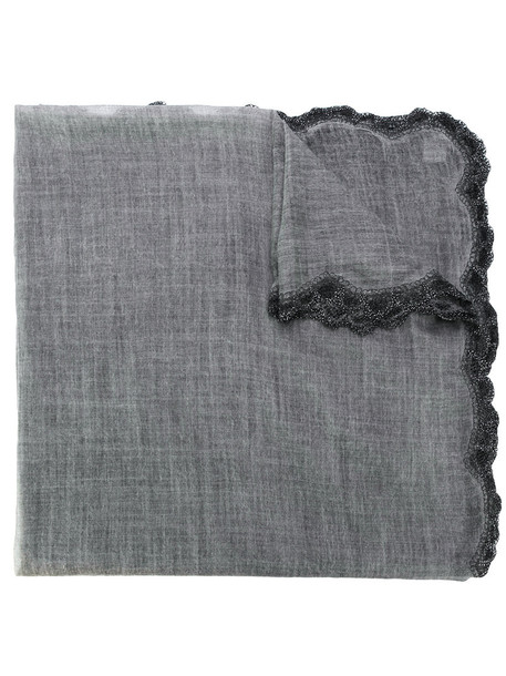 women scarf wool grey