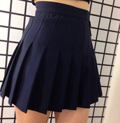 skirt,grunge,black skirt,navy,navy blue skirt,school uniform,school skirt