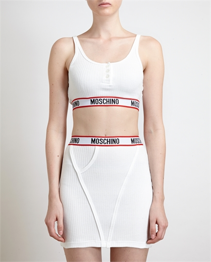 Ribbed Cotton Bra & Skirt - Moschino - £150.00