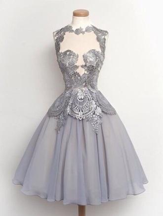 dress grey dress prom dress