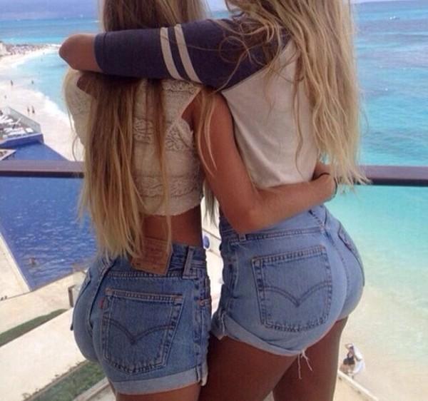 cuffed high waisted shorts