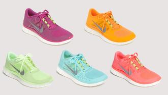shoes nike shoes nike pastel mint light green purple orange hot pink nike running