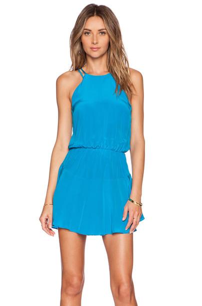 karina grimaldi dress blue
