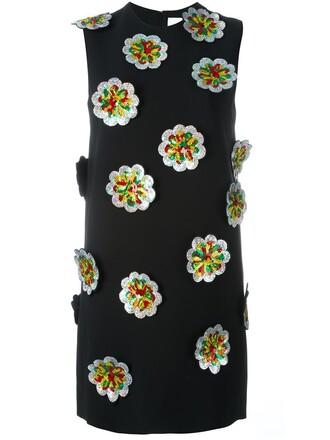 dress shift dress floral black