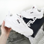 shoes,white shoes,fila,sneakers