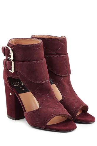 sandals suede purple shoes