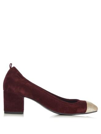 suede pumps pumps suede burgundy shoes