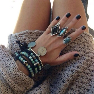 jewels bracelets beeds indie ring