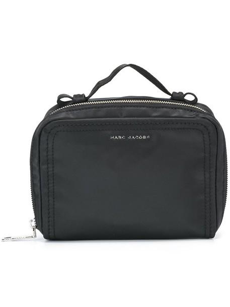 Marc Jacobs logo make-up case, Black, Polyester