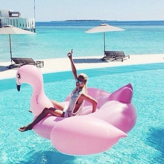 swimwear flamingo pink swimwear awesome!