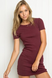dress,girl,girly,girly wishlist,short dress,cute,bodycon dress,bodycon,purple,purple dress,brandy melville,short sleeve,short sleeve dress