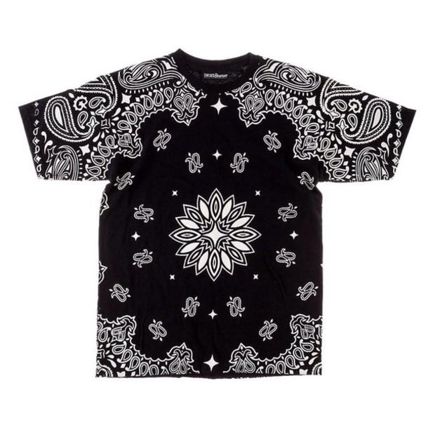 shirt black t-shirt white t-shirt paisley cool shirts