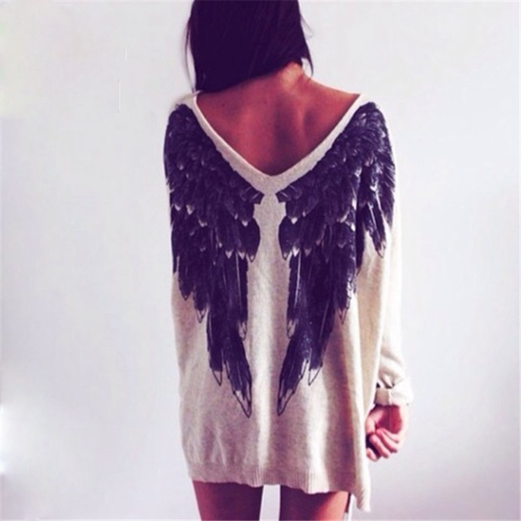Ms. printing angel wings pattern sweater m001 · foreverfashion · online store powered by storenvy