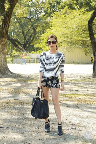 t-shirt shorts shoes bag sunglasses jewels kryzuy