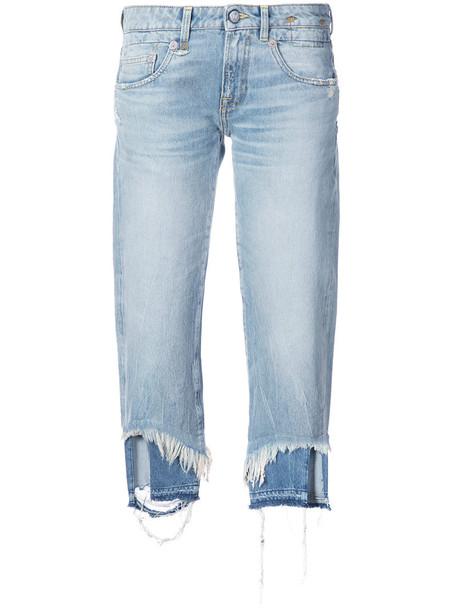 R13 jeans women spandex cotton blue 24