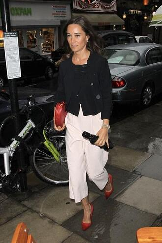 jumpsuit pumps jacket pippa middleton spring outfits