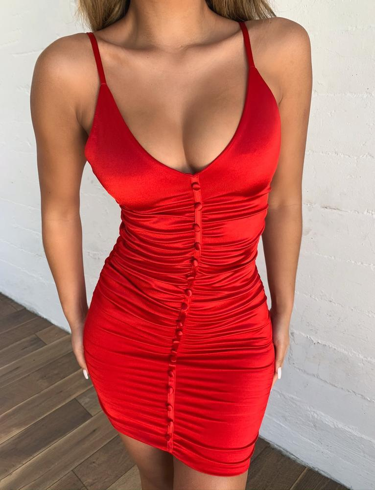 Angelo Dress - Red - S RED