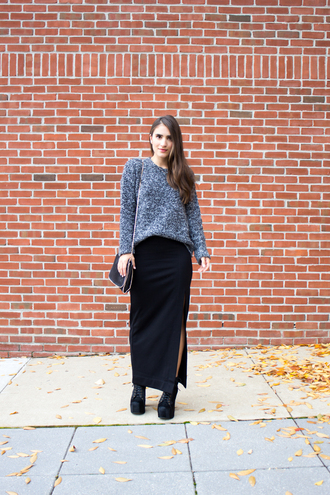 lana jayne blogger sweater skirt shoes jewels bag