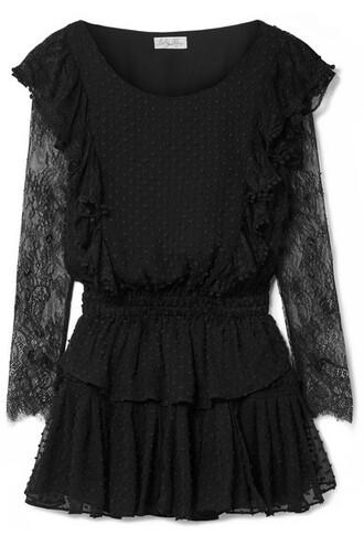 dress mini dress mini lace cotton black silk