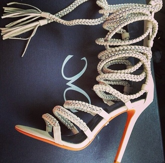 shoes heels rope pumps high heels