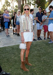 jacket,dress,boho,kate bosworth,coachella,shoes,boots,bag