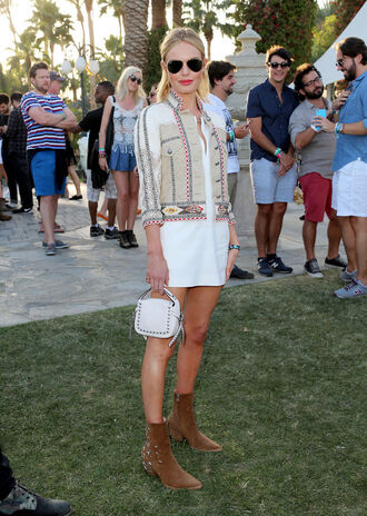 jacket dress boho kate bosworth coachella shoes boots bag