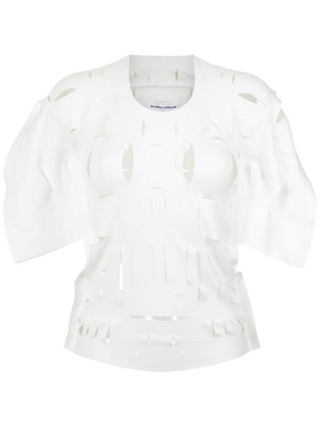 Gloria Coelho - cut out details blouse - women - Polyester/Spandex/Elastane - GG, Polyester/Spandex/Elastane