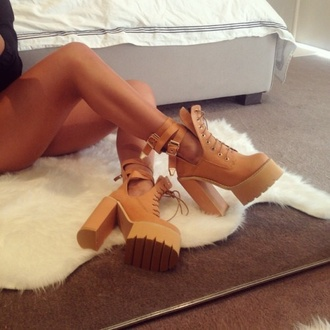 shoes sand high heels sand colour