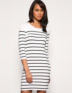 Oasis | Oasis Bretton Stripe Dress at ASOS